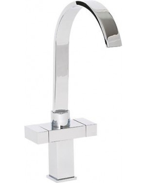 Alliance 13831 Arran Twin Lever Cruciform Kitchen Sink Mixer Tap - Chrome