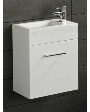 LOMOND Modern Wall Hung Vanity Unit White