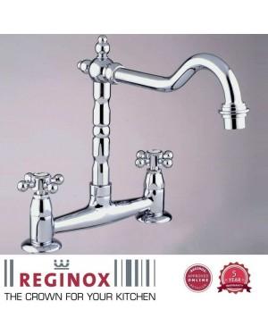 Reginox Traditional Style Brass Vivica Kitchen Sink Tap Deck Mounted Chrome
