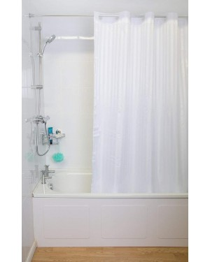 Croydex Hookless Regency Stripe Shower Curtain Proseal Coated Fabric Machine Washable