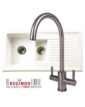 Reginox 1.5 Bowl & Brushed Genesis Tap
