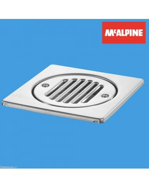 McAlpine 150mm Square Stainless Steel Tile With Removable Grid Part No. FGTOP6SS