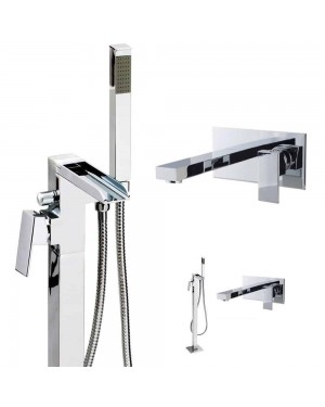 Waterfall Floor Standing Wall Mounted Bath & Basin Tap