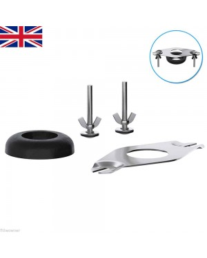 Close Coupling Kit for WC Toilet Pan Cistern Doughnut Fixings Plate Donut
