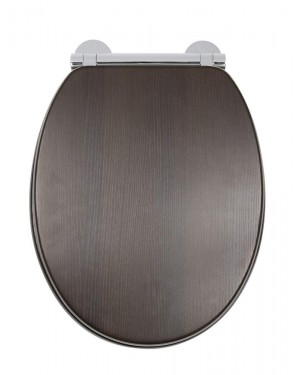 Croydon Montoro Heavy Duty Walnut Effect Toilet Seat