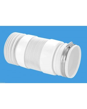 Flexible Pan Connector For Back To Wall Toilet Pans + S/S CLIP McAlpine WC-F21R