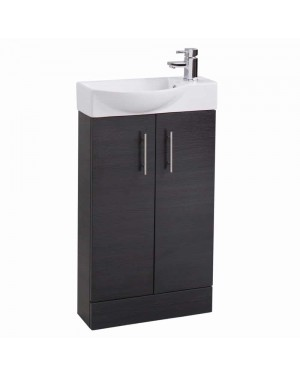 Slimline 500 mm Modern Bathroom Vanity Basin Sink Unit Cloakroom Cabinet