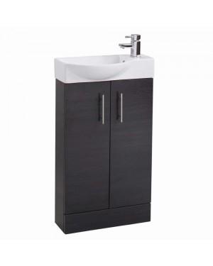Slimline 500 mm Modern Bathroom Vanity Basin Sink Unit Cloakroom Cabinet