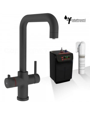 Instant Boiling Hot & Cold Water Tap Mixer Including Fittings BLACK