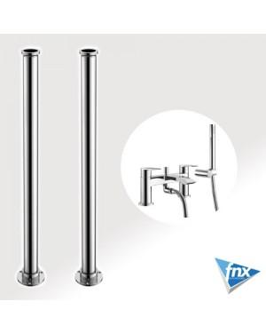 Sleek Square Freestanding bathroom Tap Set Bath Shower Mixer