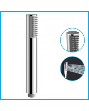 Chrome Shower Head Pencil Minimalist Round Universal Handset Handheld