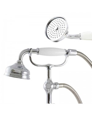 Traditional Victorian Style Shower Head Chrome Bath Shower Handset Water Saving