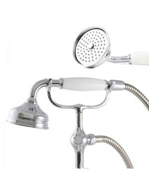 Traditional Victorian Style Shower Head Chrome Bath Shower Handset Water Saving