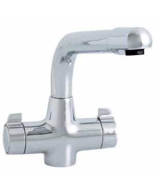 Mayfair Bristol 2 Handled Modern Kitchen Sink Mixer Tap Chrome