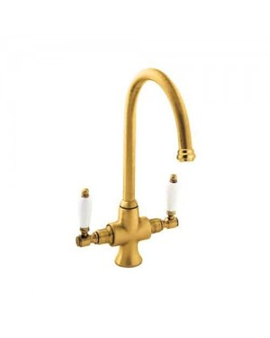 Deva SM056/501 Georgian Mono Sink Mixer Tap with Gold Finish