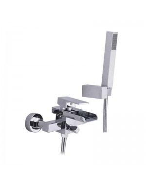 Waterfall Bath Shower Mixer Tap Wall Mounted Incl Hose & Handset