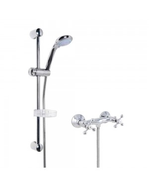 Traditional Shower Mixer Tap & Slide Rail Kit