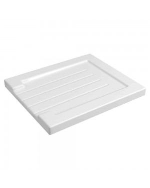 Reginox Grooved Ceramic White Belfast Kitchen Sink Drainer with Gloss Finish