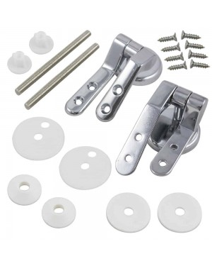 Universal Chrome Metal Toilet Seat Hinges Pair MDF Wooden Resin Adjustable Set