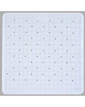 Rubber Anti Slip Shower Mat White 53x53cm Anti Mould Mat With Suction Cups