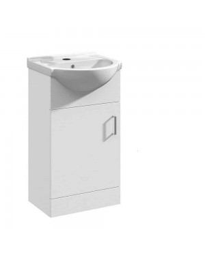 Mars 450mm Single Door Vanity Unit Floor Standing White