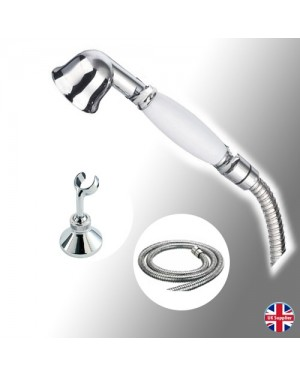 Traditional Shower Head Incl Hose & Shower Bracket Chrome Metal
