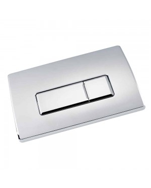 Square Chrome Pneumatic Toilet Concealed Cistern Large Flush Plate WC Button