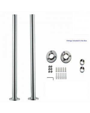 Chrome Freestanding Standpipes Legs Shrouds For Traditional Bath Taps Roll Top