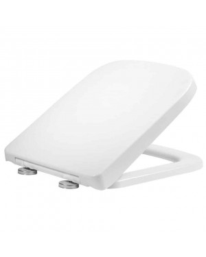 RAK Series 600 Short Projection Soft Close Slimline Toilet Seat White Square Wrapover