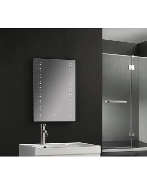 Twin Vertical Spot LED Touch Mirror With Demister