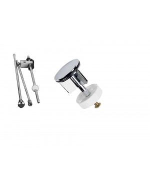 Basin/Sink Pop Up Rod Assembly Replacement Kit Including 40mm Pop Up Plug Chrome