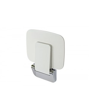 Croydex Shower Seat, White/Chrome, 360 x 250 mm