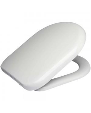 TOILET SEAT D SHAPED ANTI BACTERIAL SOFT CLOSE SEAT METAL HINGES 86511