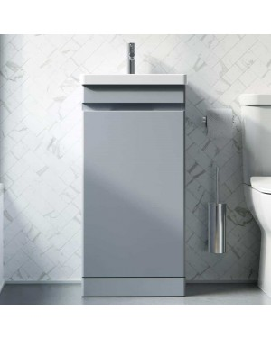 Saneux AIR 400mm Bathroom Vanity Unit Pewter Grey Compact