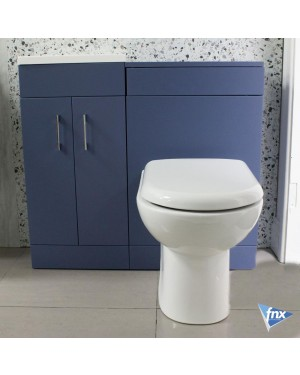 900mm Storm Blue Lomond Vanity Unit With Back to Wall Pan & Cistern
