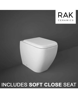 RAK Metropolitan Back To Wall Toilet Pan & Soft Close Seat