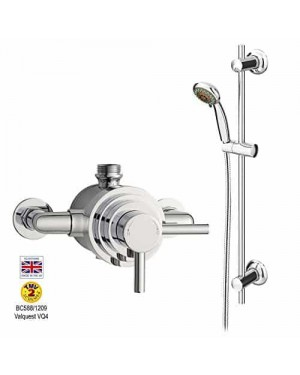 LUXURY PREMIER ULTRA DUAL EXPOSED THERMOSTATIC SHOWER VALVE AND SLIDE RAIL KIT