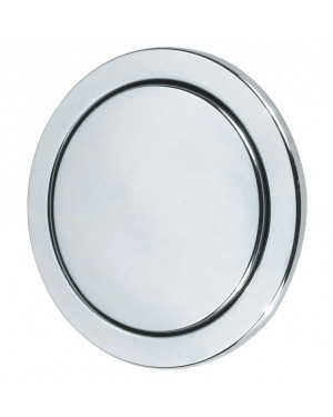 Dudley CP Round Single Flush Button