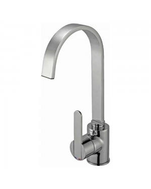 Reginox - Amur Brushed Nickel Mono Kitchen Sink Mixer Tap Single Lever