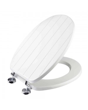 Croydex New England Sit Tight Toilet Seat - White Moulded Wood No Movement