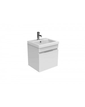 Saneux 400mm Wall Hung Vanity Unit Basin Sink Bathroom Compact WHITE