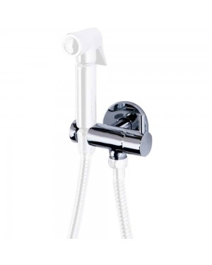 Wall Shower Hose Holder with Outlet and On/Off Lever