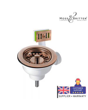 Moss & Britten Kitchen Sink Overflow Waste Kit Copper