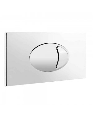 Toilet Concealed Cistern Large Dual Flush Plate WC Push Button ABS Chrome Finish