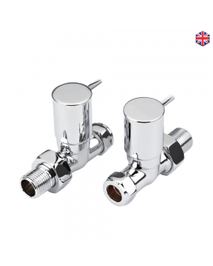 Minimalist Radiator Valves Straight Pair Easy Grip Peg Style