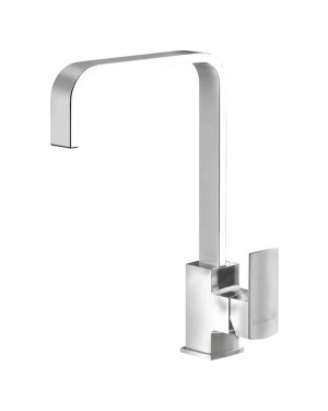 Reginox - Astoria Brushed Nickel Square Kitchen Sink Mixer Tap Single Lever