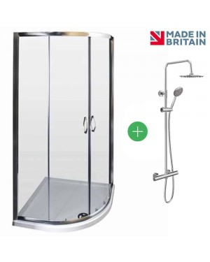900 x 900 Quad + Tray + Shower Kit