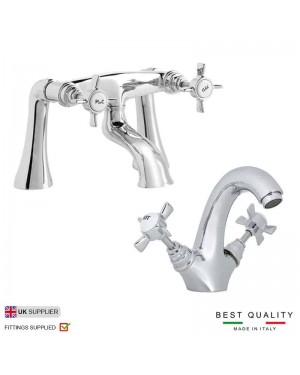 Hatton Traditional Basin Mixer & Bath Filler Tap