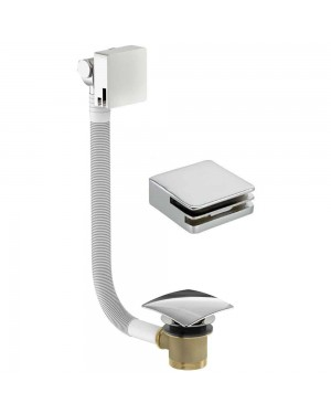 Square Overflow Exo Bathroom Bath Filler inc Click Clack Waste Autofil