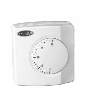 TOWER ROOM STAT RSN THERMOSTAT CENTRAL HEATING BOILER MAINS OR VOLT FREE SWITCH